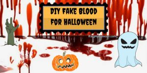 DIY Fake Blood for Halloween Infographic