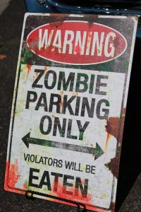 Zombie Halloween Theme Sign