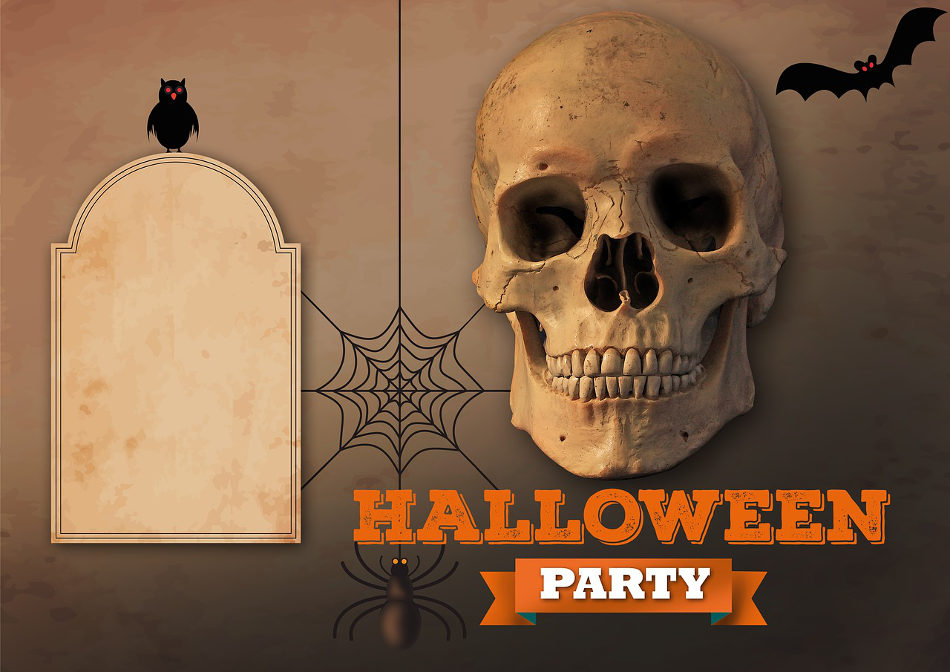 adult halloween party invitation
