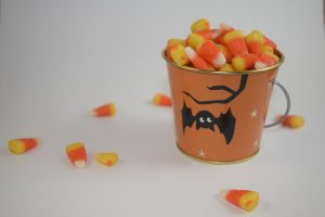 Candy Corn Halloween Buckets