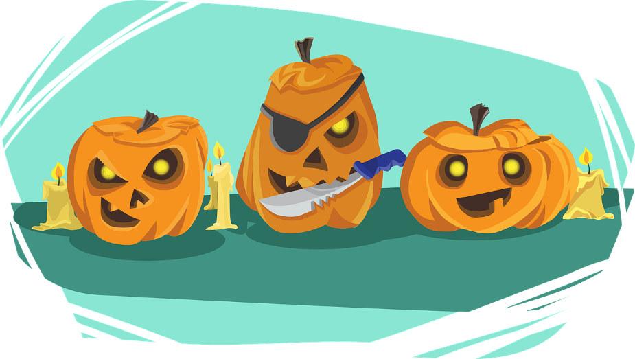 three pumpkin comic strip