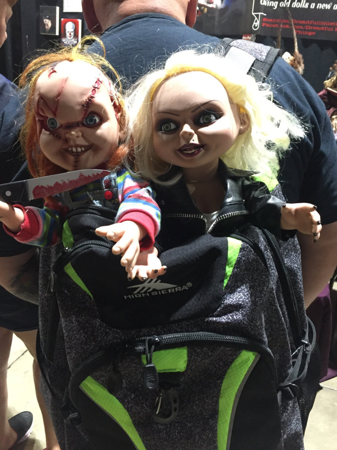 Chucky backpack at Midsummer Scream