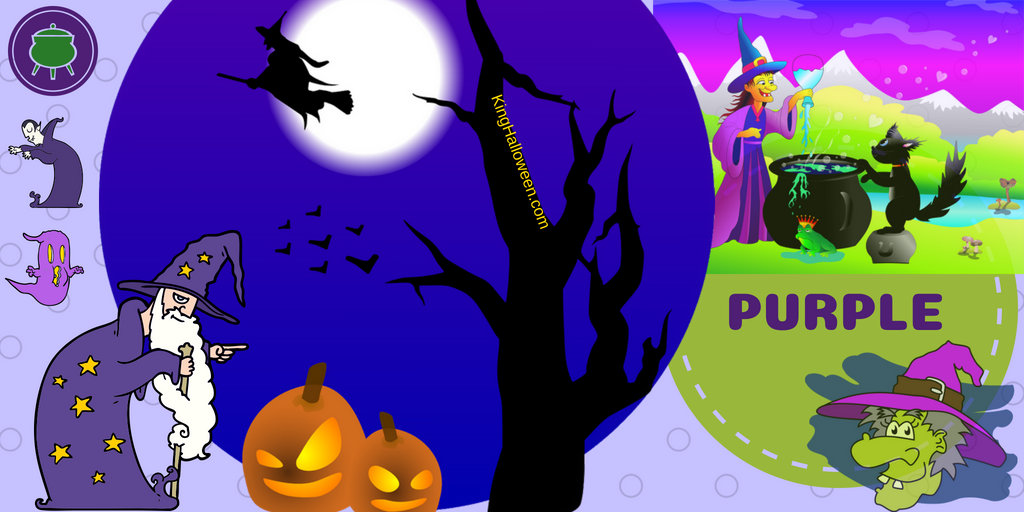 Halloween Colors Purple