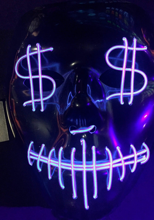 Halloween Light up Mask