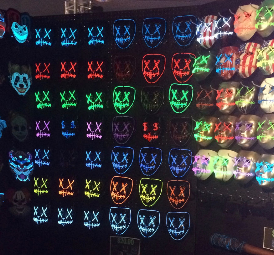 Light up Masks Hanging board