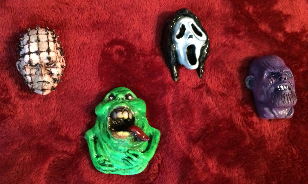 Magnets- Pinhead Ghostface Slimer and Thanos
