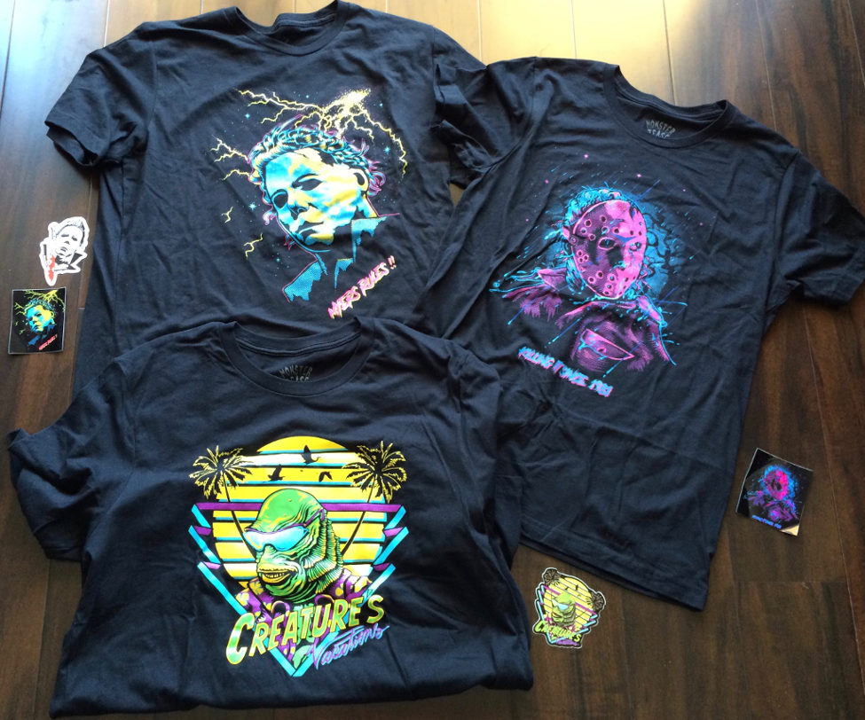 Three Monster Tease Shirts and Stickers