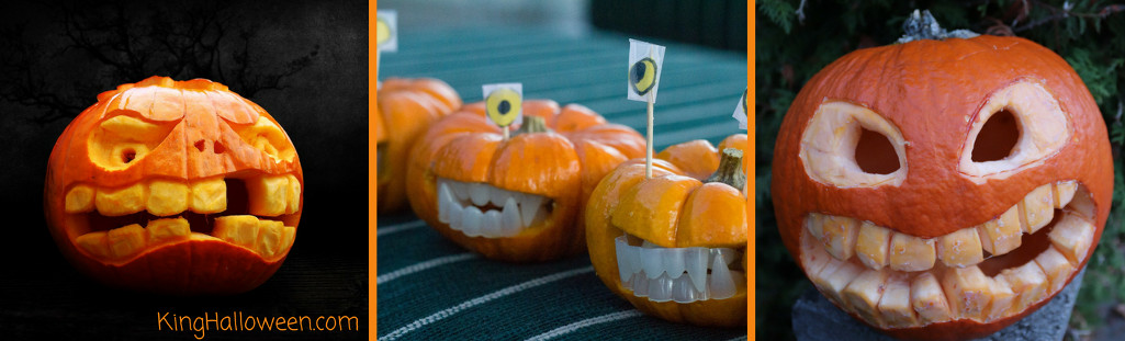 Pumpkin with teeth graphic