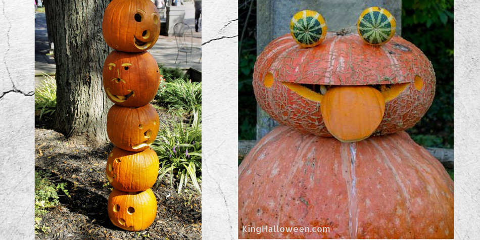 Two Stacked Pumpkins Images