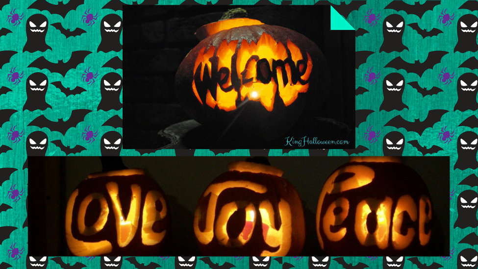 Words with pumpkins graphic