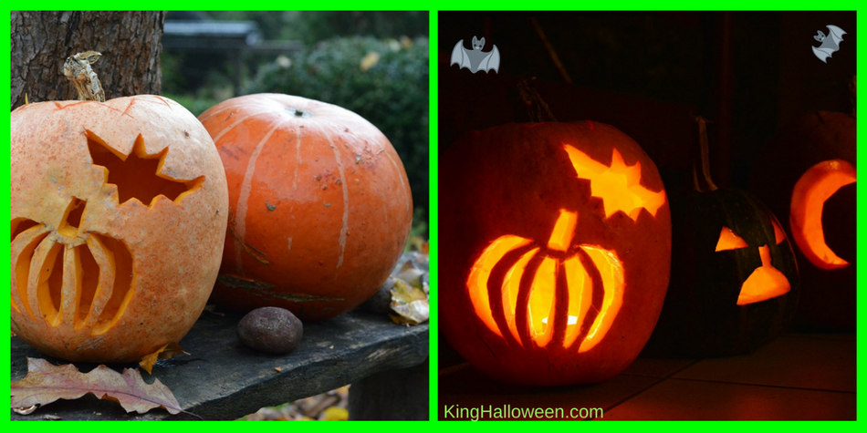bat jack- o-lantern day and night