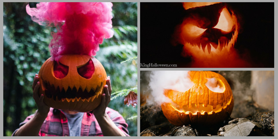 cool pumpkin ideas dry ice pumpkin three