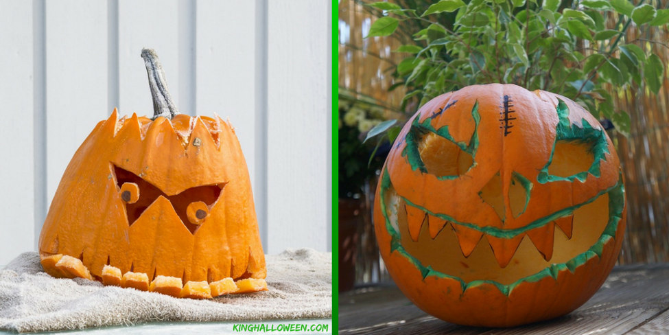 cute pumpkin ideas frankenstein flat top