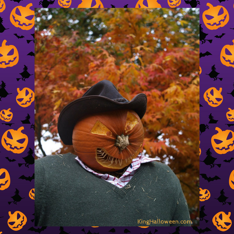 pumpkin face ideas scarecrow