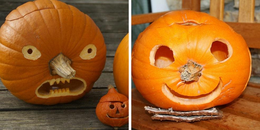 pumpkin face ideas stem noses