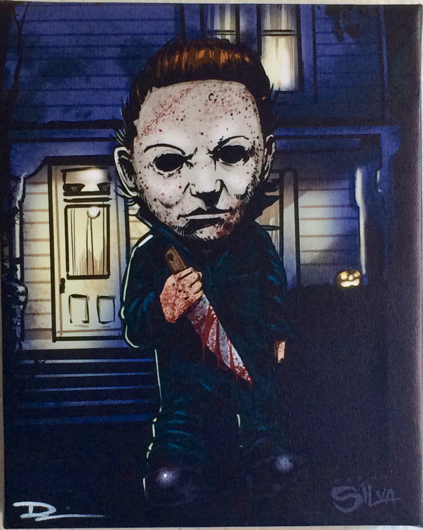 Michael Myers the Shape Horror Villains Canvas Painting