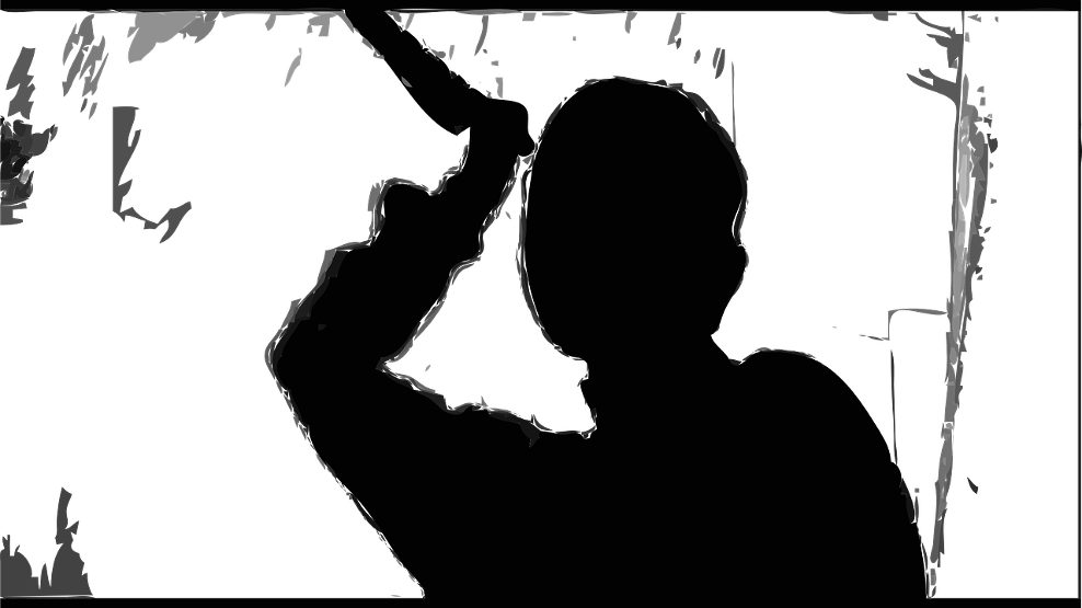 Norman Bates Psycho Shower Silhouette