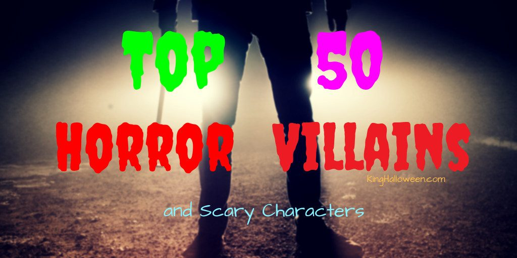 horror villains and scary characters graphic