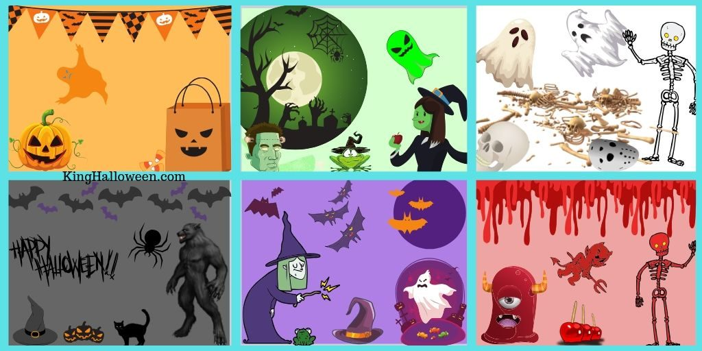 Colors of Halloween in grids