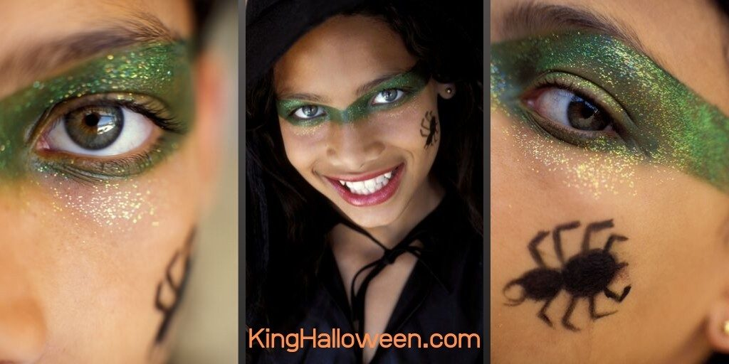 Cute witch makeup closeup-2