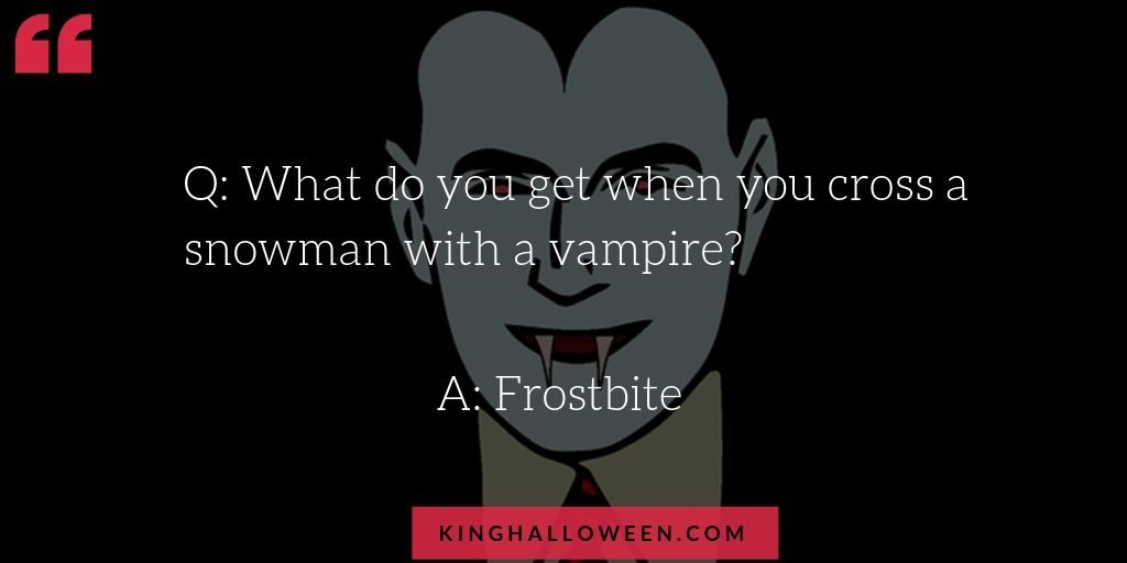 Frostbite Vampire joke quote graphic