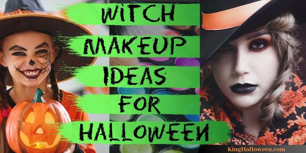 Halloween Witch Makeup Green Title