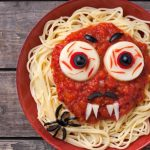 Spaghetti Monster with fangs