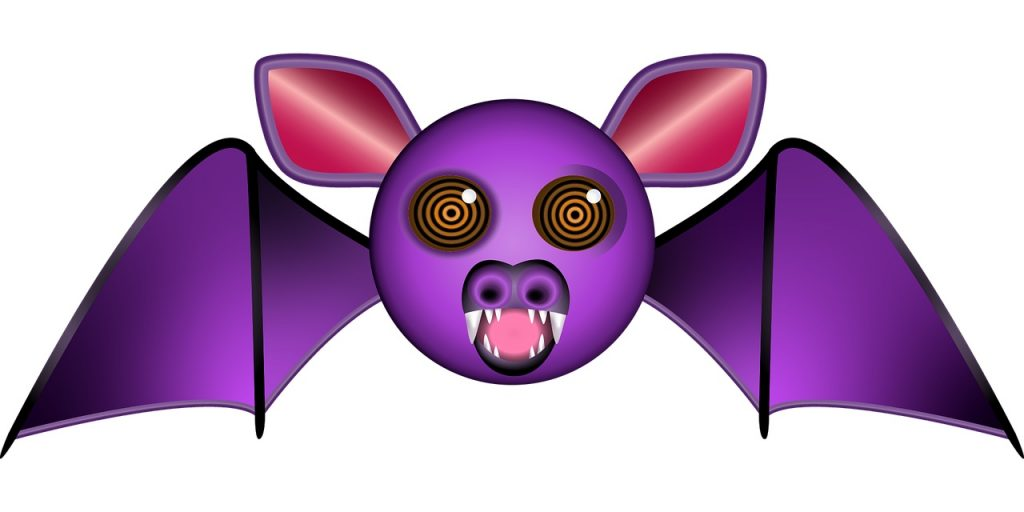 Purple Vampire Bat smiling